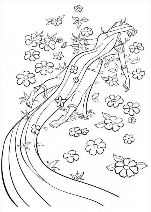 download tangled coloring pages 14