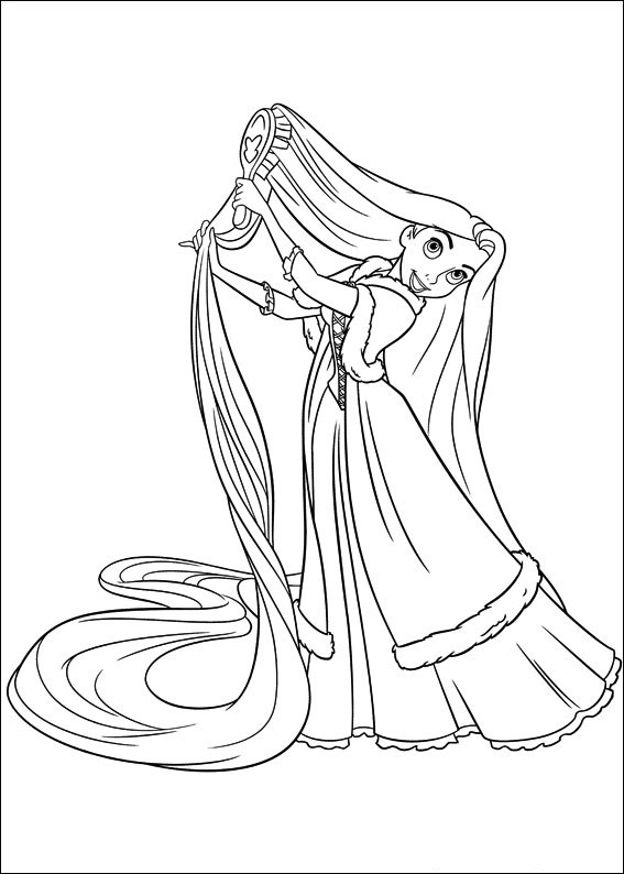 tangled poster coloring pages - photo#36