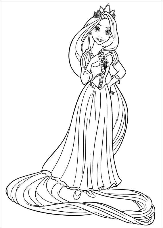 download tangled coloring pages 7 - Tangled Coloring Pages Girls