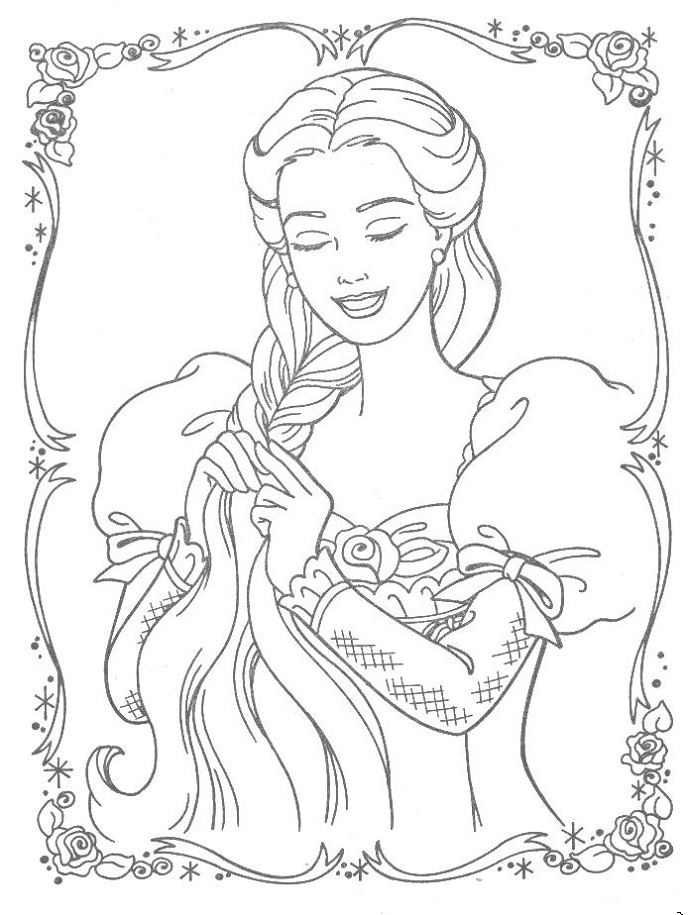 download tangled coloring pages 8