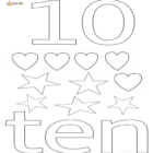 ten-10-coloring pages