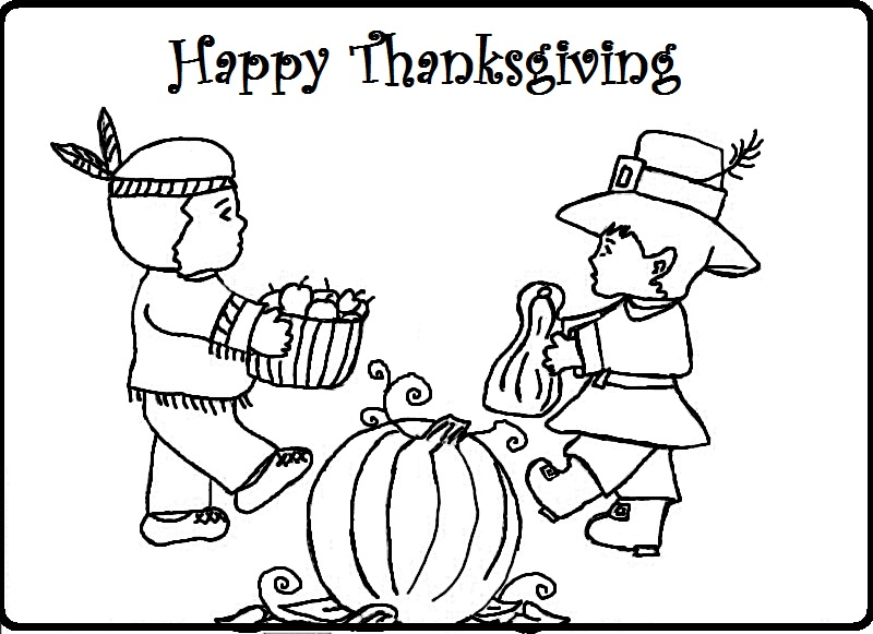 Thanksgiving Coloring Pages 3 Kids Pilgrim Kindergarten