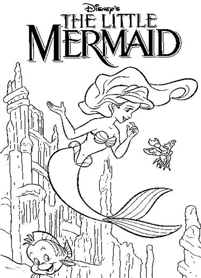 download the little mermaid coloring pages4 little mermaid disney