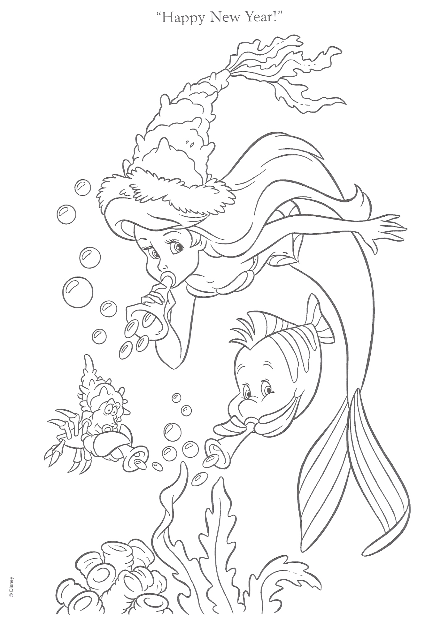 Download The Little Mermaid Coloring Pages7