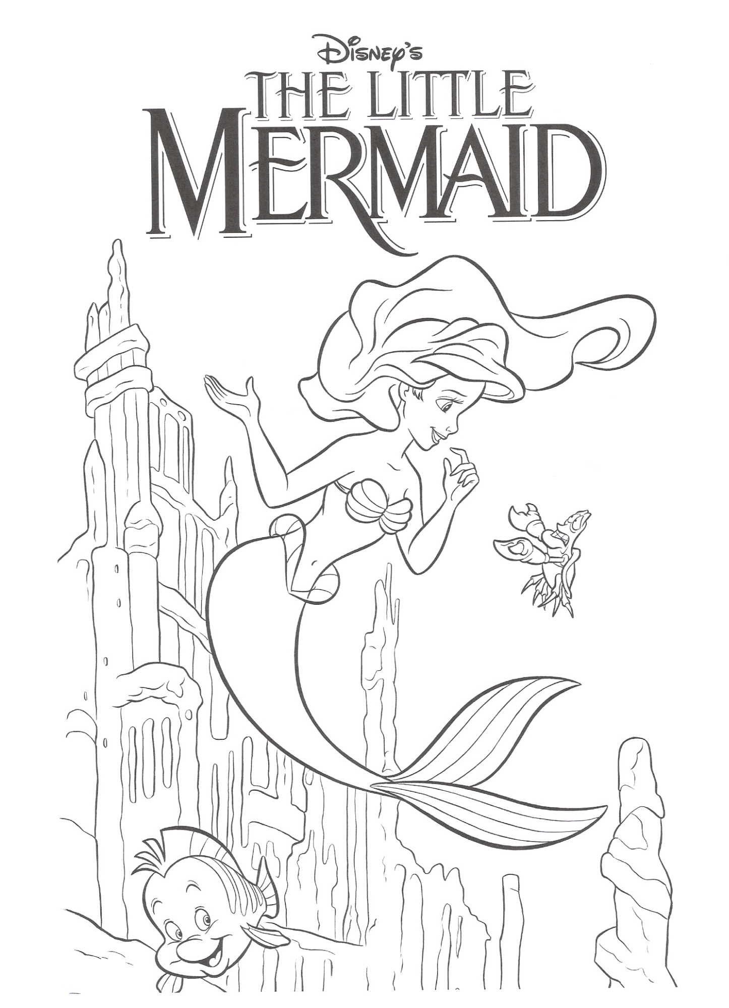 Little mermaid disney ariel coloring pages - Download The Little Mermaid Coloring Pages9