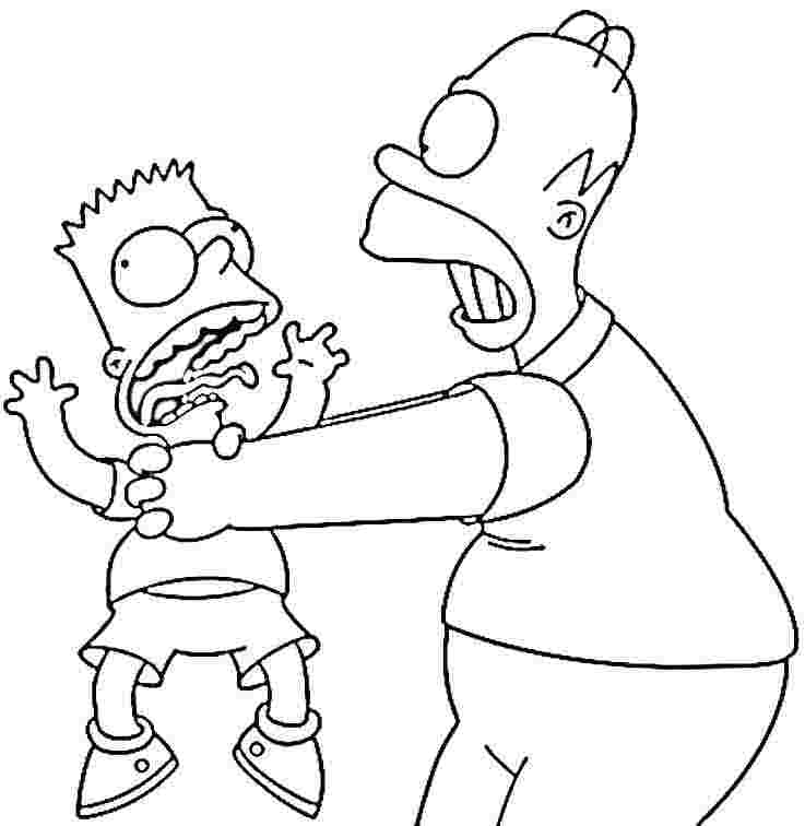 download the simpsons coloring pages 2 - Simpsons Halloween Coloring Pages