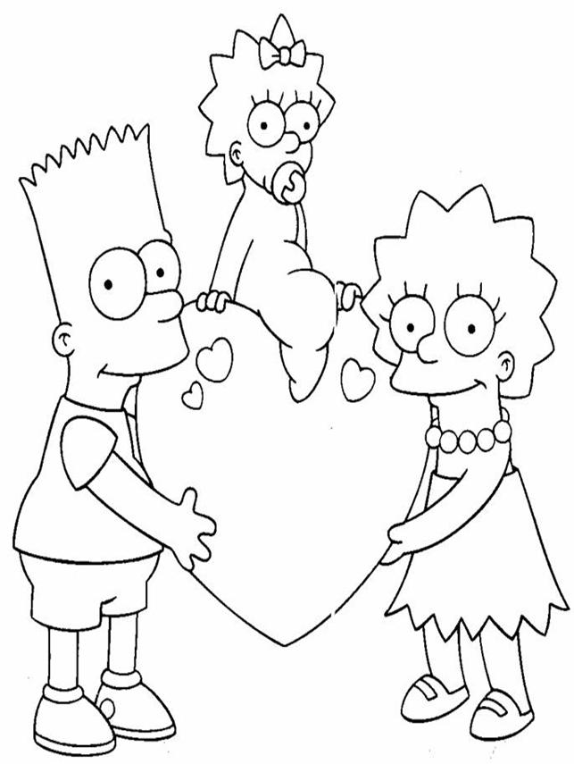 download the simpsons coloring pages10 - Simpsons Halloween Coloring Pages