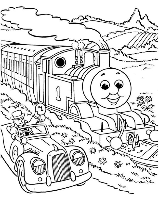 Download Thomas The Tank Engine Coloring Pages 12 Print