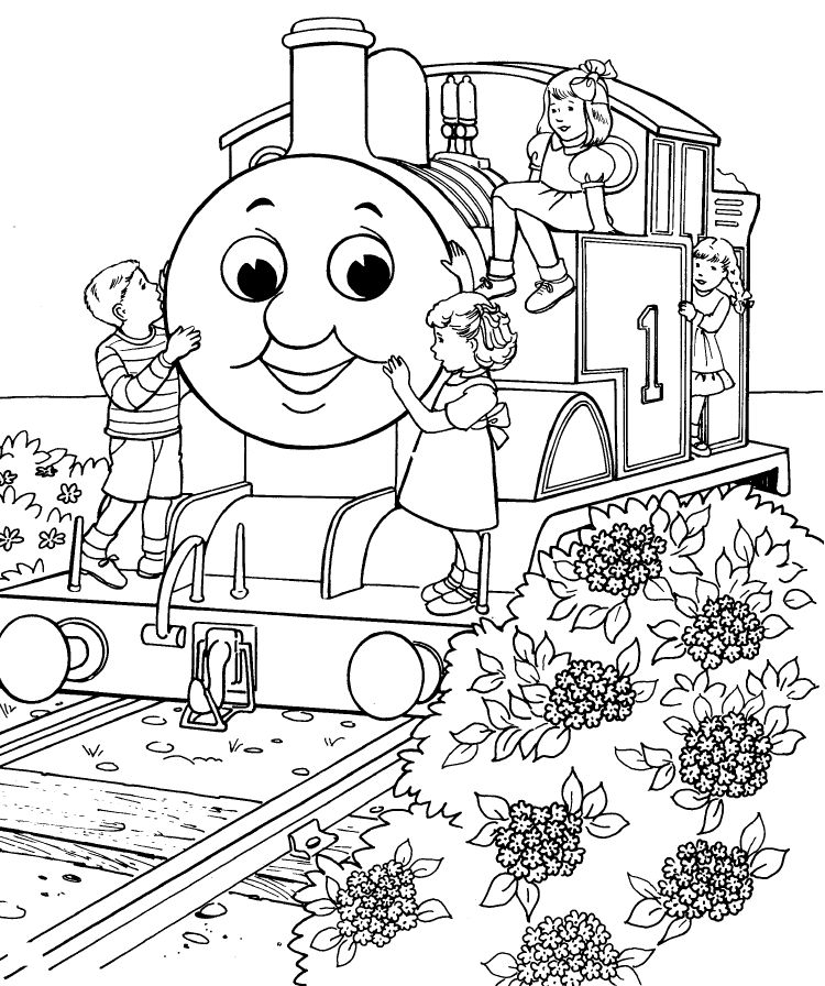 coloring pages thomas tank engine - photo#2