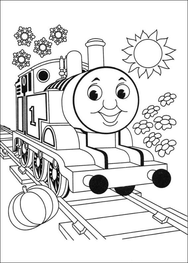 Thomas the Tank Engine Coloring Pages (2) - Coloring Kids