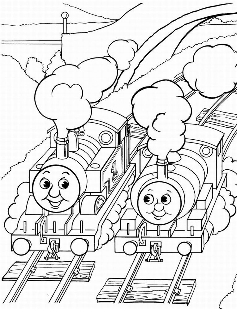Download Thomas The Tank Engine Coloring Pages 3 Print