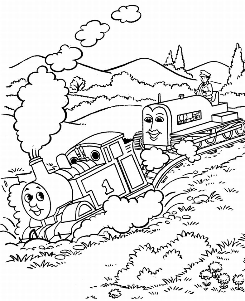 thomas the tank engine coloring pages - thomas the tank engine coloring pages 6 coloring kids