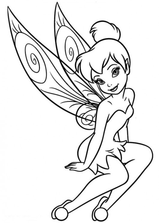 TinkerBell Coloring Pages (10)