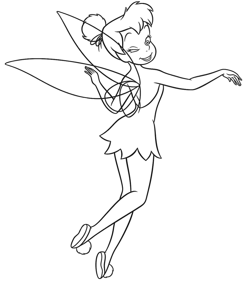 i love tinkerbell coloring pages - photo#8