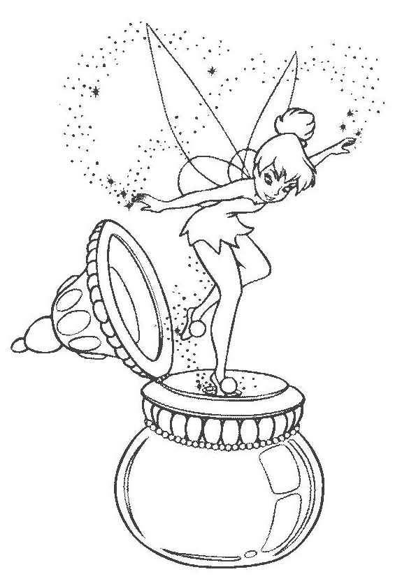 TinkerBell Coloring Pages 19 Coloring Kids