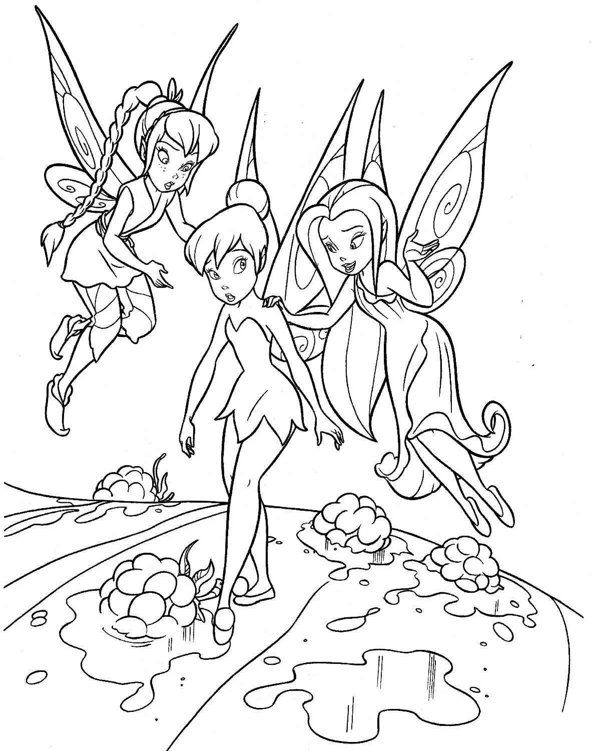 Tinkerbell Coloring Pages Beauteous Tinkerbell Coloring Pages 22  Coloring Kids Inspiration Design