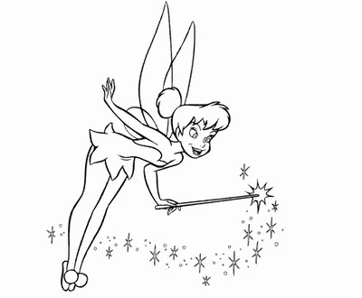 TinkerBell Coloring Pages (4)