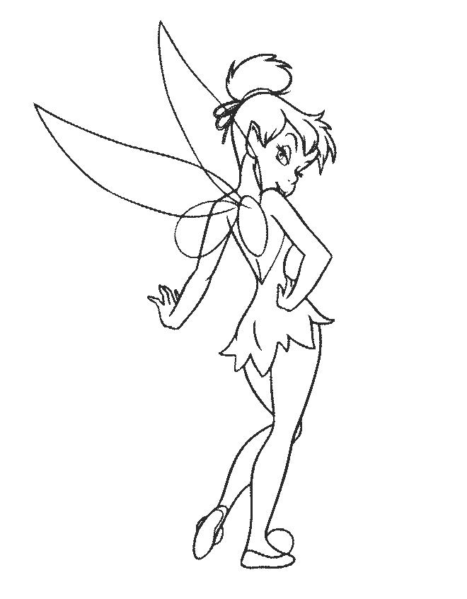TinkerBell Coloring Pages (7)