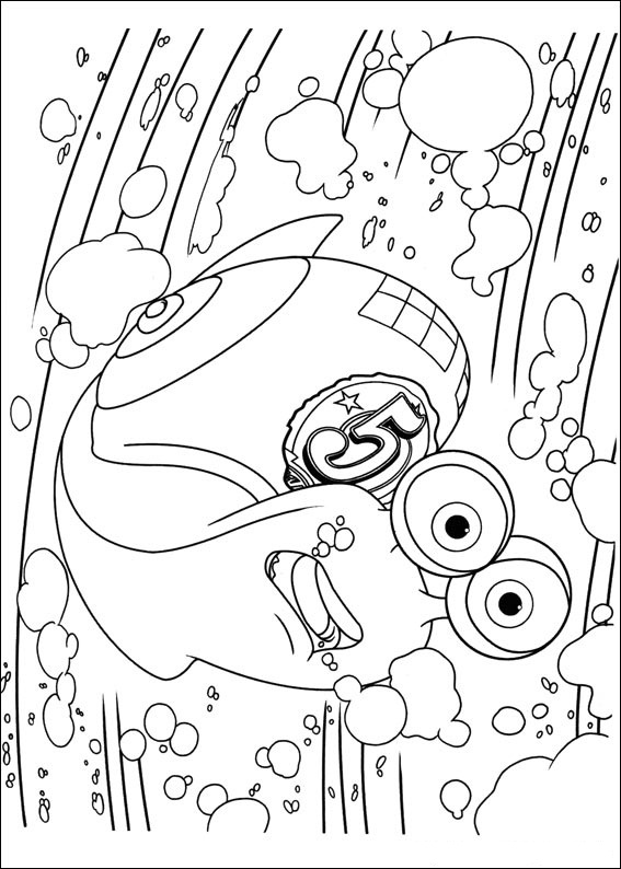Turbo Coloring Pages Coloring Kids