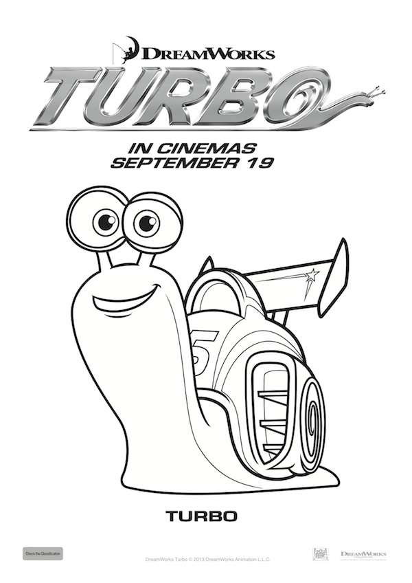 Turbo Coloring Pages4 Coloring Kids