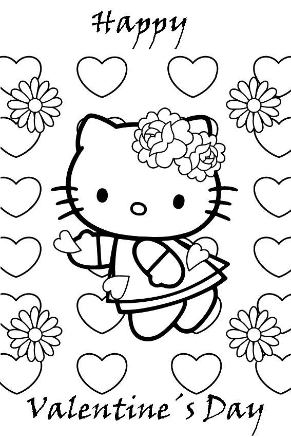 valentine coloring pages for girls - photo#12