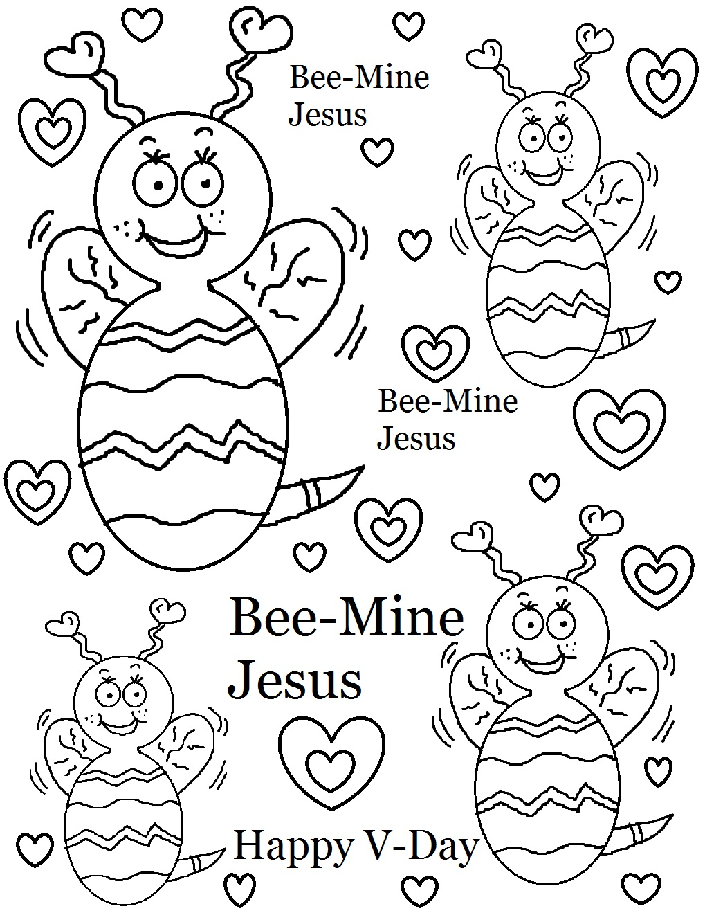 Download Valentine Coloring Pages 14