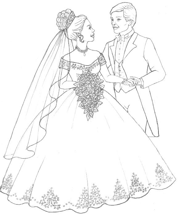 Wedding Coloring Pages (11) - Coloring Kids