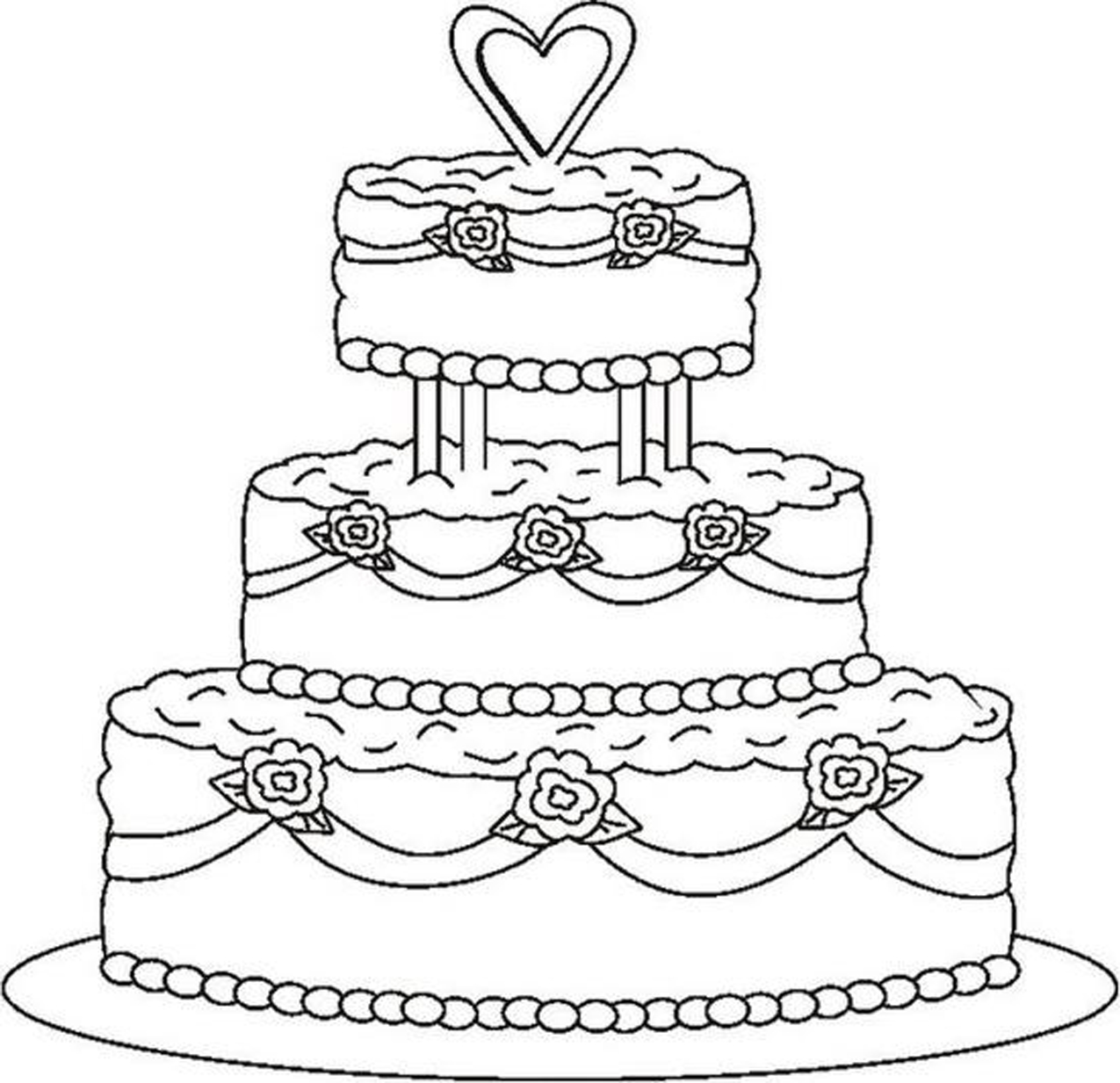 download wedding coloring pages 13