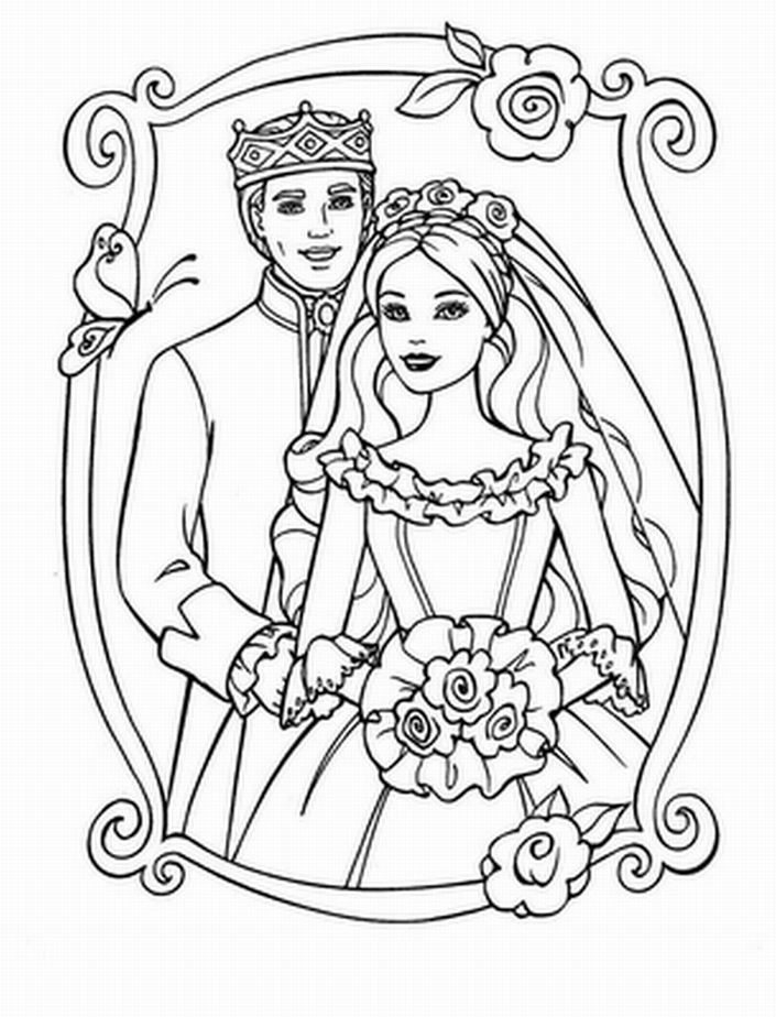 download wedding coloring pages 2