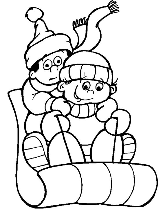Download Winter Coloring Pages 14 Print
