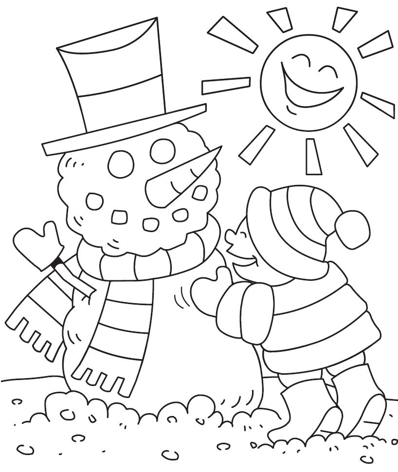 Free winter coloring pages for kids - Download Winter Coloring Pages 3 Print Free Kids