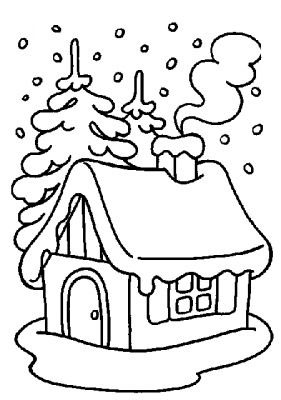 download winter coloring pages 5