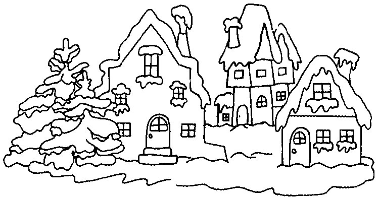 download winter coloring pages 6