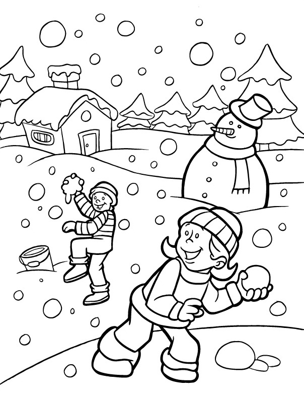 Download Winter Coloring Pages 7