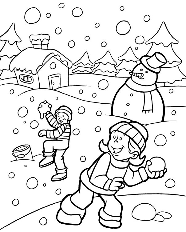download winter coloring pages 9