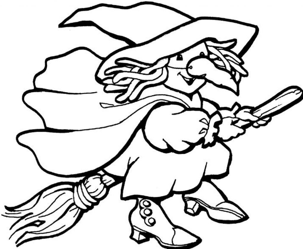 Print Free Kids Witch Coloring Activities