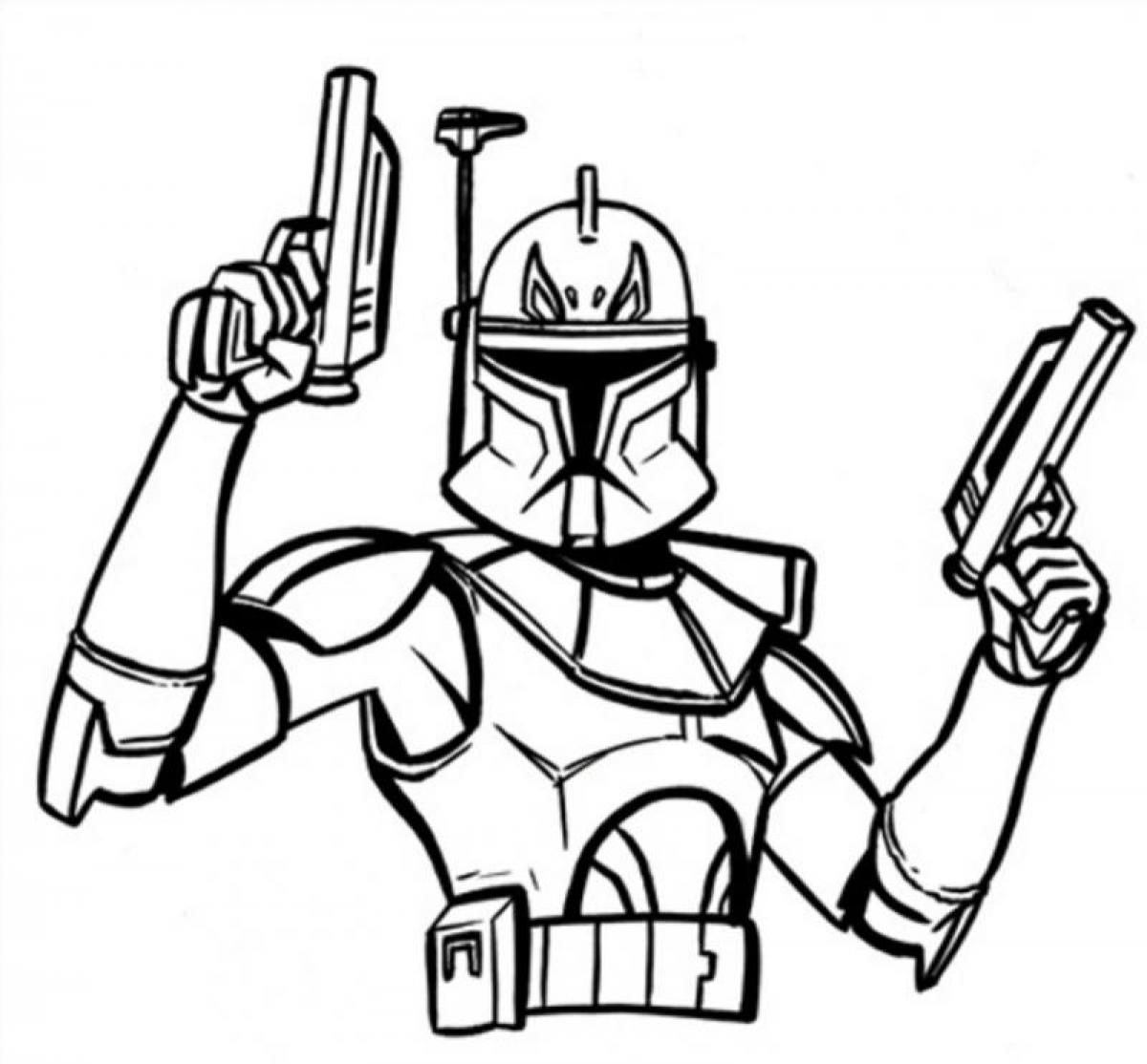 Download Wonderful Captain Rex Star Wars Colouring Pagesstar Coloring