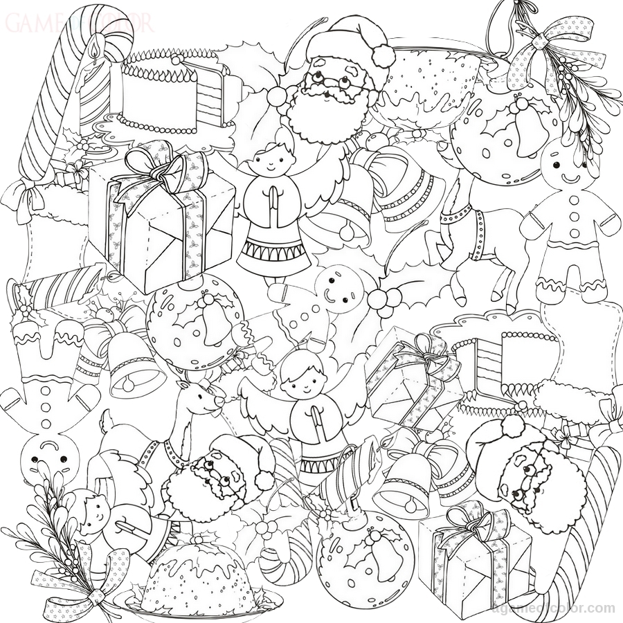 Xmas Decorations Toys Coloring Kids Coloring Kids