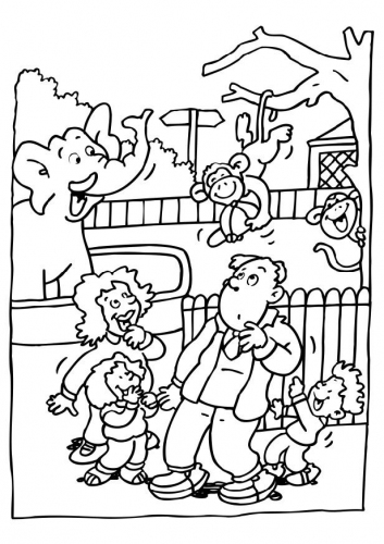 download zoo coloring pages 2 - Zoo Coloring Pages