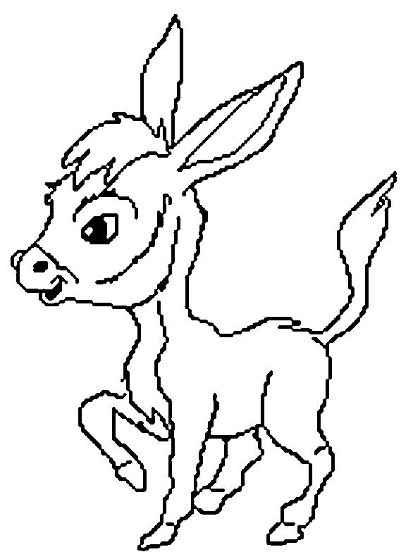 Donkeys-coloring-page-9