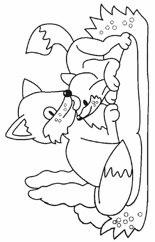 Foxes-coloring-page-10