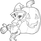 Free-Witch-cat-Coloring-Pages