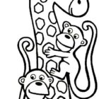 Giraffes-coloring-page-1