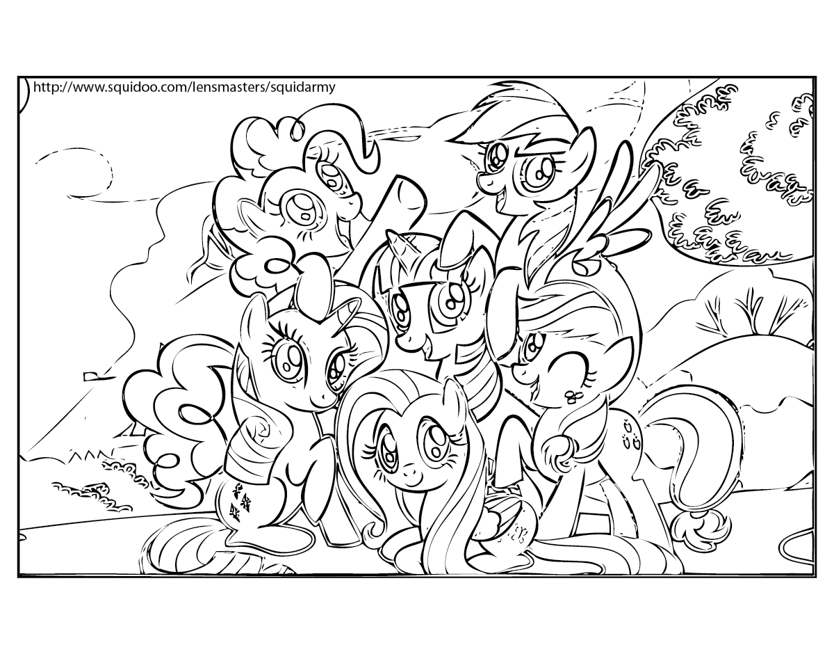 My Alternate Blog Little Pony Coloring Pages Kids