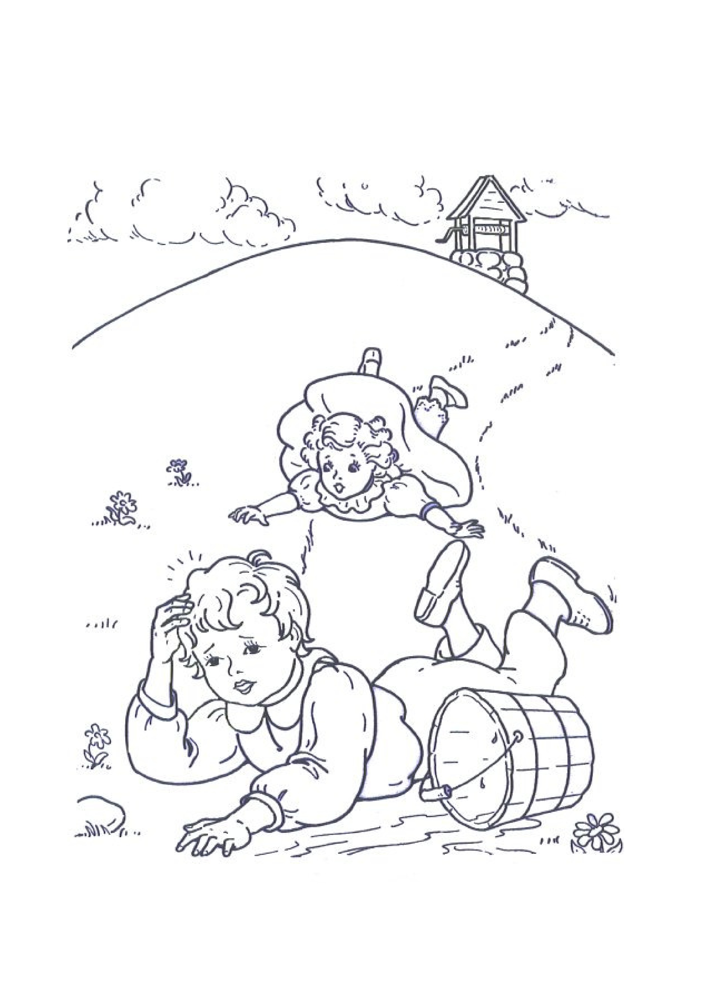 Nursery Rhymes Coloring Pages Kids