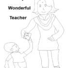 Teacher's Day Coloring pages