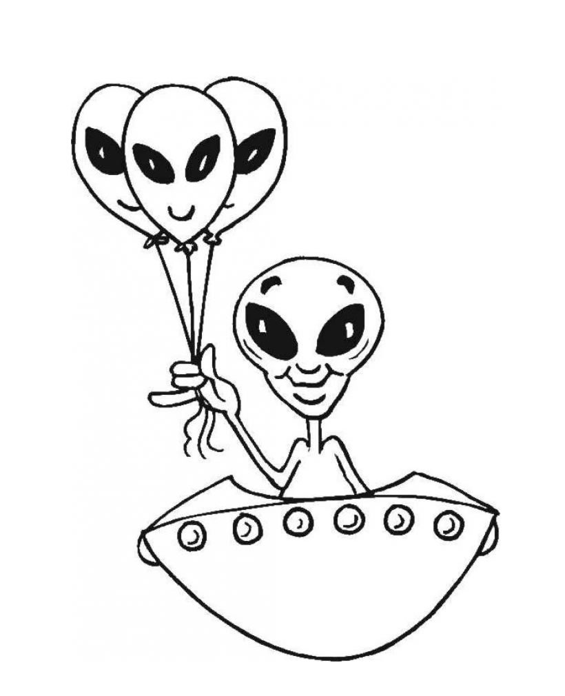 Alien Coloring Pages (11)