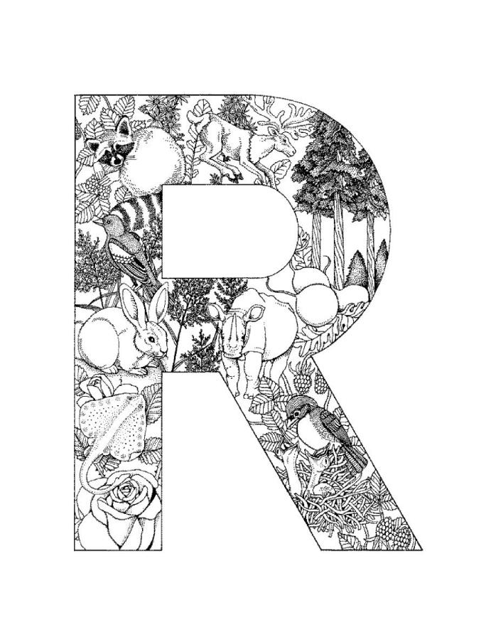 Alphabet Coloring Pages (9)
