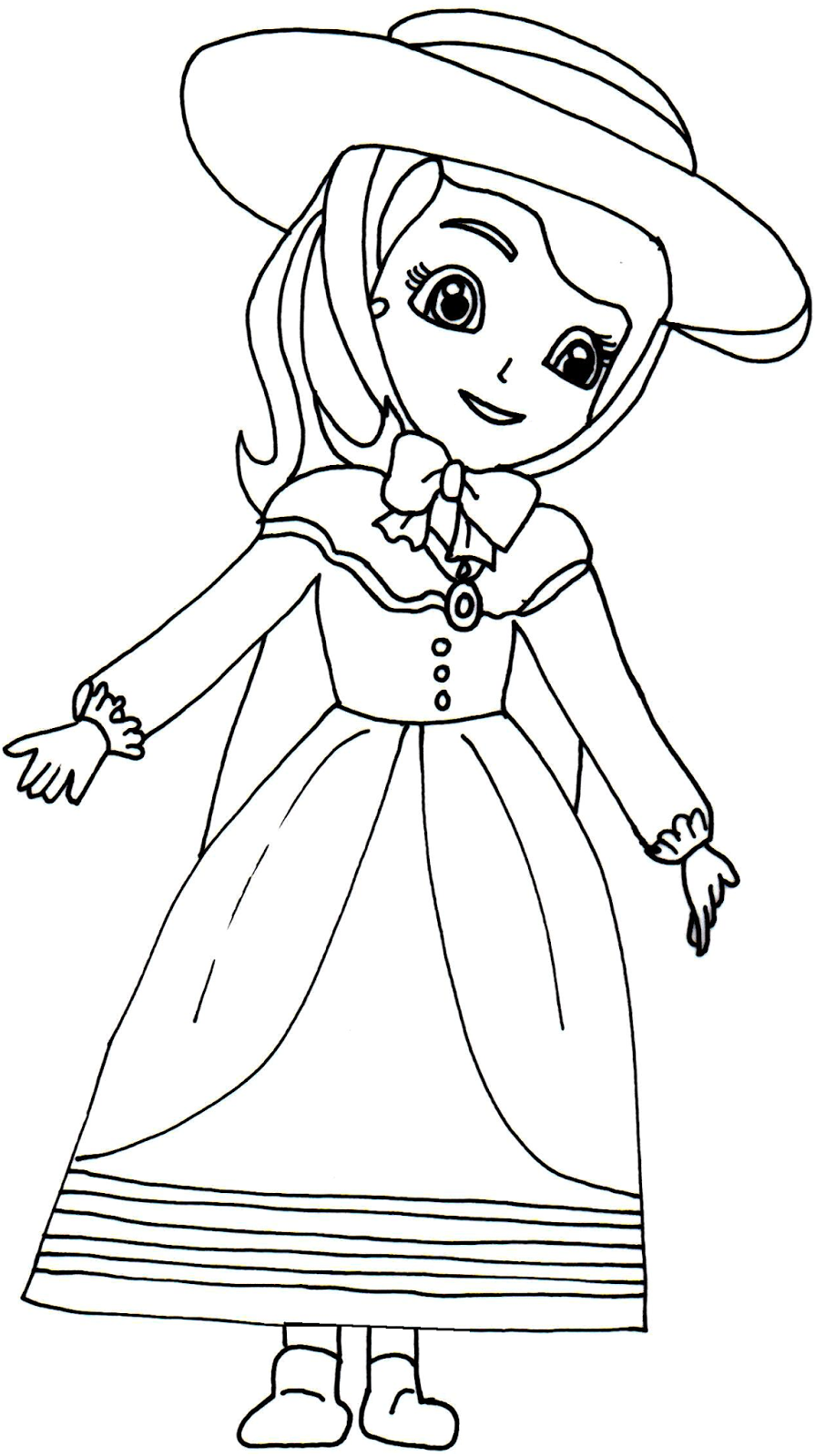 aunt venture sofia the first coloring page