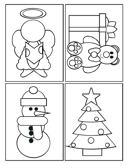 Free Coloring Pages Christmas Cards Coloring Pages